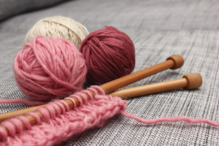 knitting: Knitting project Stock Photo