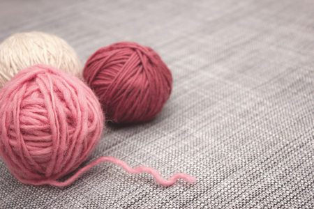 gomitoli di lana: Gomitoli di lana rosa