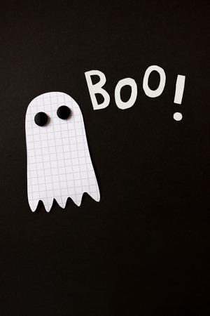 cut paper: Paper cut halloween ghost