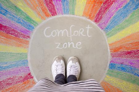 Comfort zone concept Stock Photo