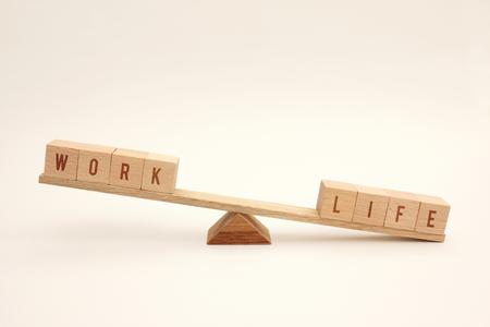Work life balance concept - focus on life