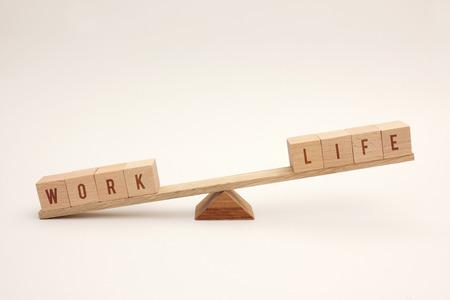 imbalance: Work life imbalance Stock Photo