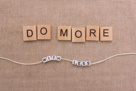 hacer: Haz más con menos