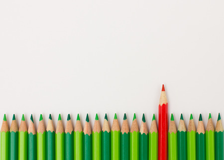 eye catcher: Red pen standing out