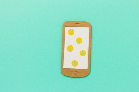smart phone: Money on smart phone Stock Photo
