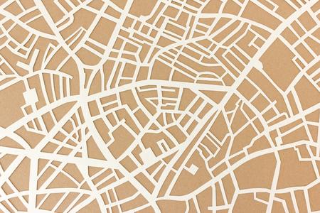 generic: City map - handcut paper street map