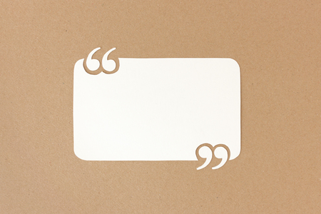 product reviews: Paper quote background with quotation marks - useful for customer reviews and product testimonials