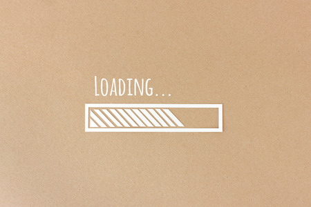 patience: Loading bar Stock Photo