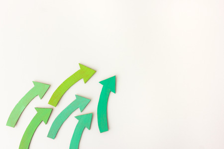 green arrows: Green arrows pointing up