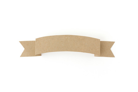 Isolated paper banderole Stock Photo