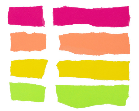 Colorful strips of paper useful as background design element Stock Photo