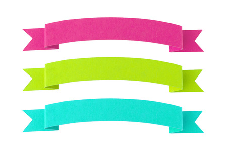 Set of 3 paper banners in bright colors