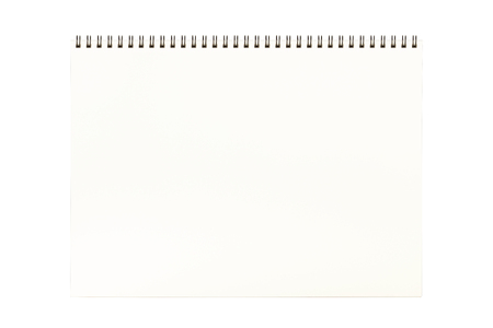 sketchbook: Large isolated sketchbook page isolated on white background