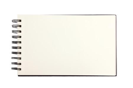 Blank sketchbook page