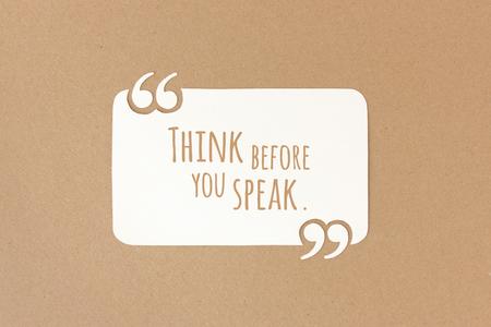 politeness: Think before you speak