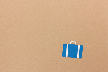 Suitcase illustration on brown paper with space vor your travel quote Stock Photo
