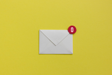 Empty inbox - yeah you made it to zero emails waiting Stock Photo