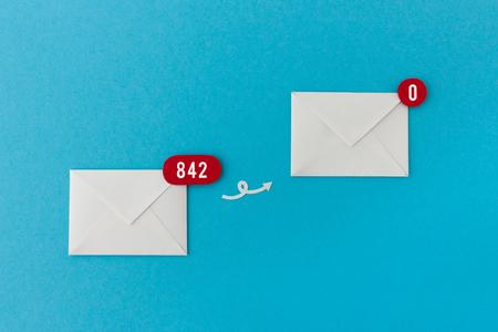 How to achieve inbox zero - image for work, office organizing, productivity hack