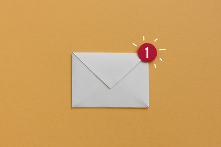 You have one new e-mail - notification concept, useful image for newsletter and email marketing topics Stock Photo