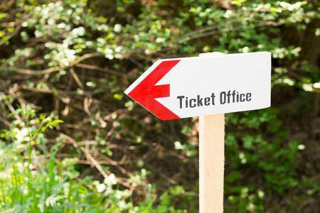 vintage ticket office sign
