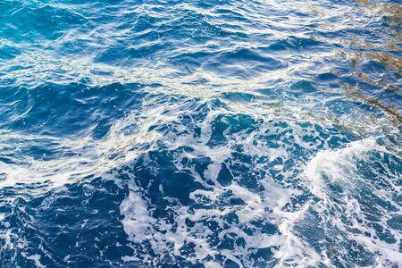 Background of Waves in ocean. Splashing Waves. Texture, copyspace.