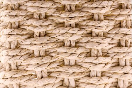 Close up background of paper wicker basket.