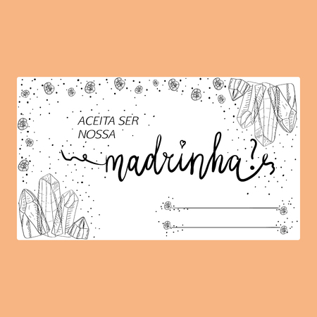 Template Of Wedding Invitation With The Text In Portuguese Language