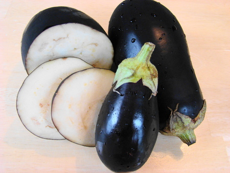 healers: Sliced eggplant Stock Photo
