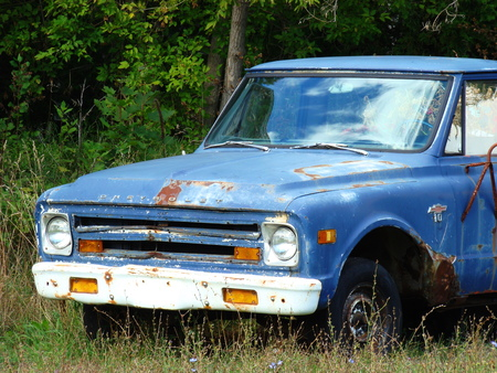 Blue truck Stock Photo - 1685639