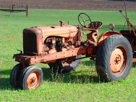 Rusted tractor photo