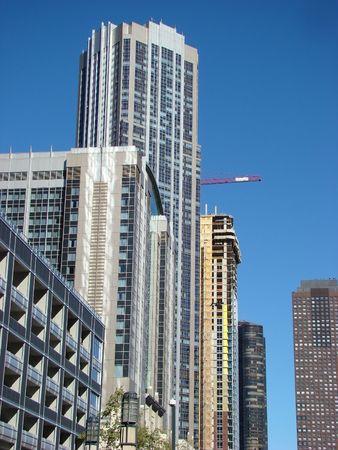 urban centers: Skyscrapers Stock Photo