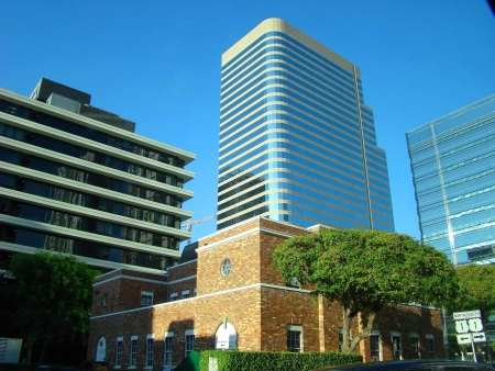 urban centers: New and old buildings Stock Photo