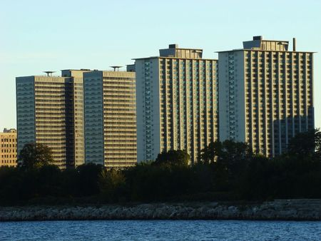 urban centers: Condominiums by the lake