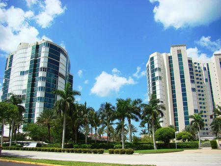 Ocean condominiums Stock Photo