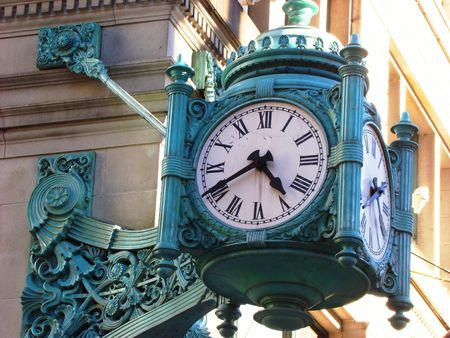 Street clock photo