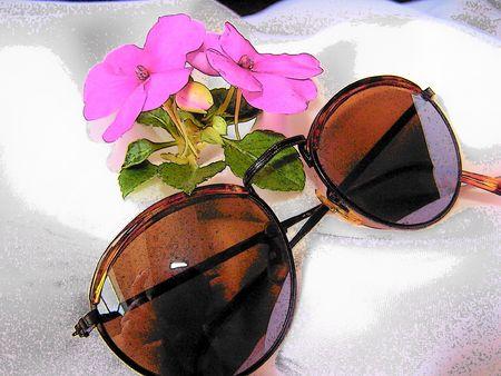 sole occhiali: Occhiali da sole Archivio Fotografico