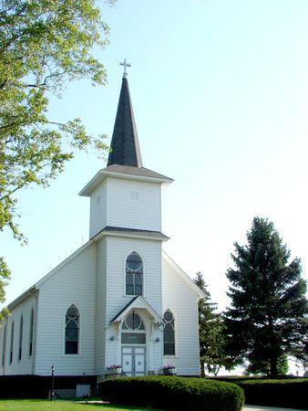 White church Archivio Fotografico