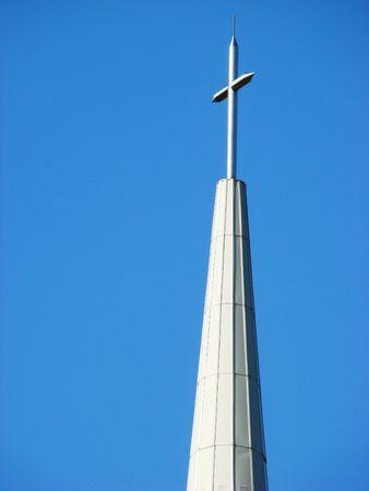 church steeple: Chiesa campanile Archivio Fotografico