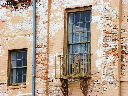 Old windows Stock Photo