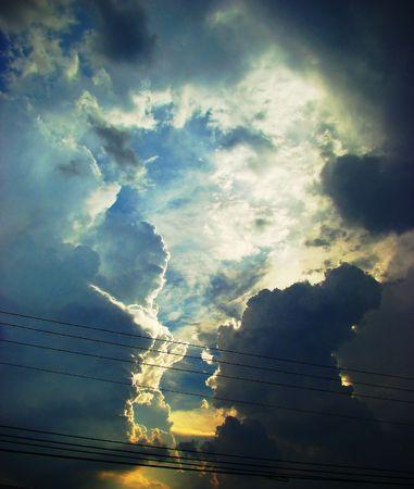turbulent: Turbulent sunset