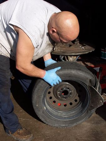 Fixing the tire photo