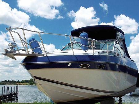The blue yacht Stock Photo