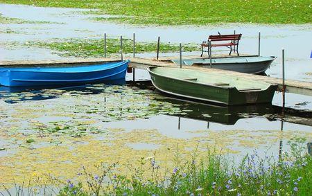 forgotten: Forgotten lake Stock Photo