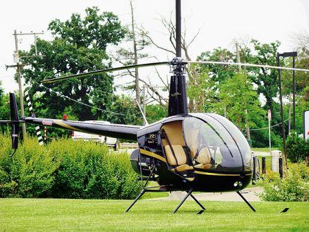 restored: Restored Vintage Helicopter Stock Photo
