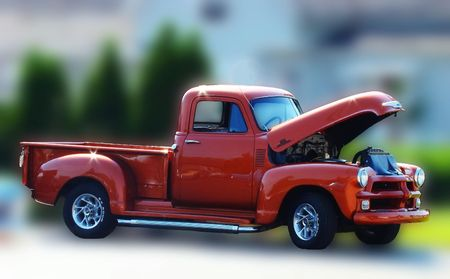 restored: Restored vintage truck Stock Photo