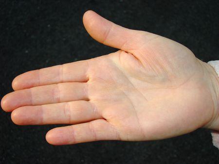 palmistry: Human palm Stock Photo