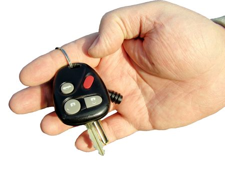 Holding the keys photo