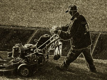 Lawnmower driver photo