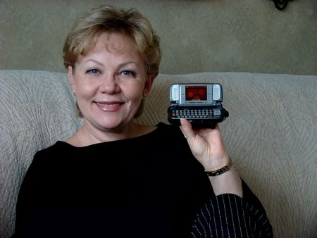 Woman with cell phone Stock Photo - 2134325