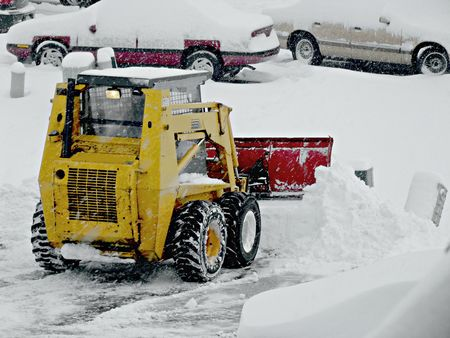 Snow plowing photo